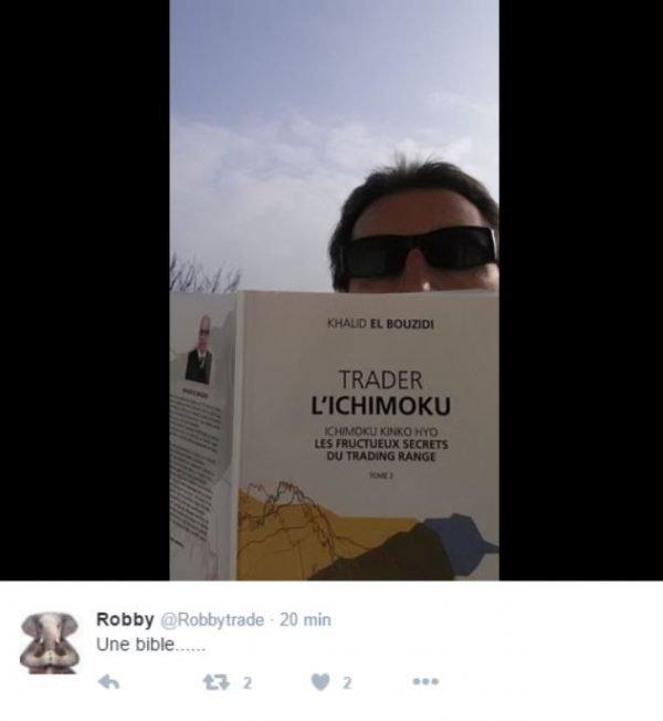 photo du temoignage de robby sur le livre ichimoku de khalid elbouzidi